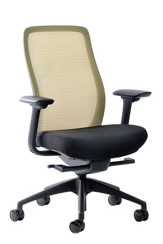 Eurotech Seating Vera Dandelion Yellow Mesh Back Task Chair