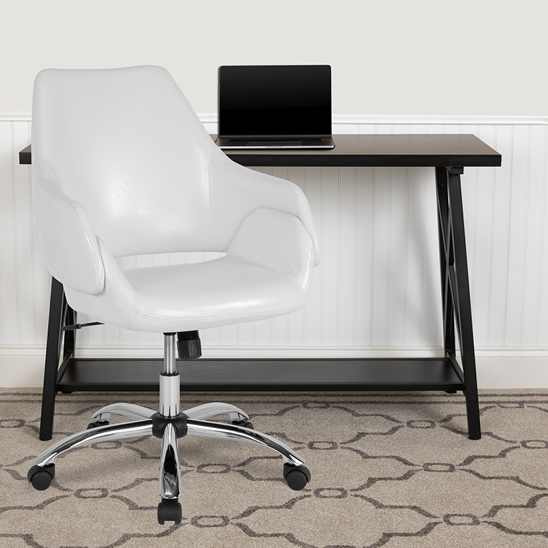 madrid white office chair in workspace
