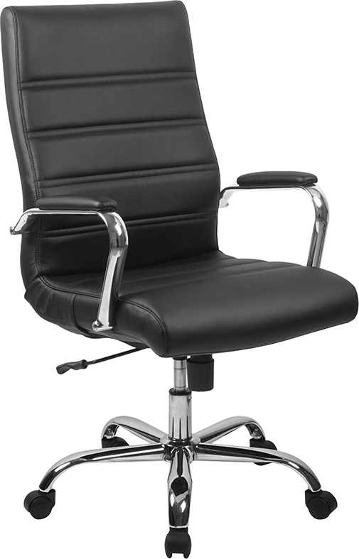 flash furniture high back ribbed office chair