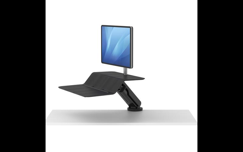 lotus rt1 black sit to stand workstation