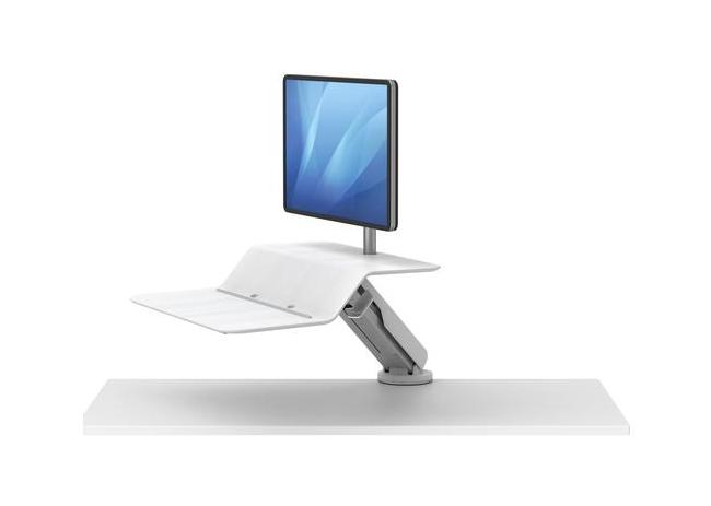 lotus rt1 white sit to stand workstation