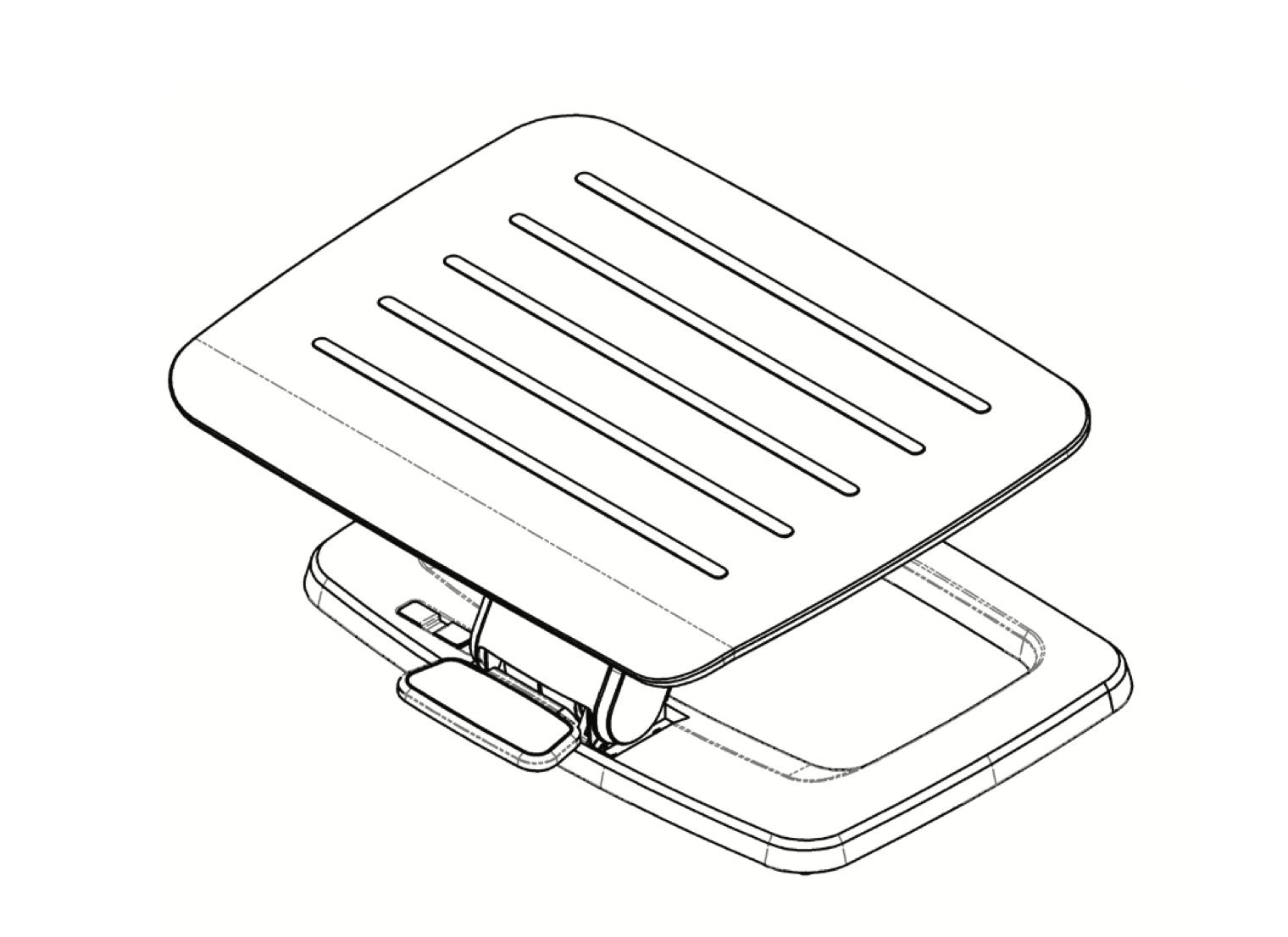 esi hana adjustable foot support line drawing 1