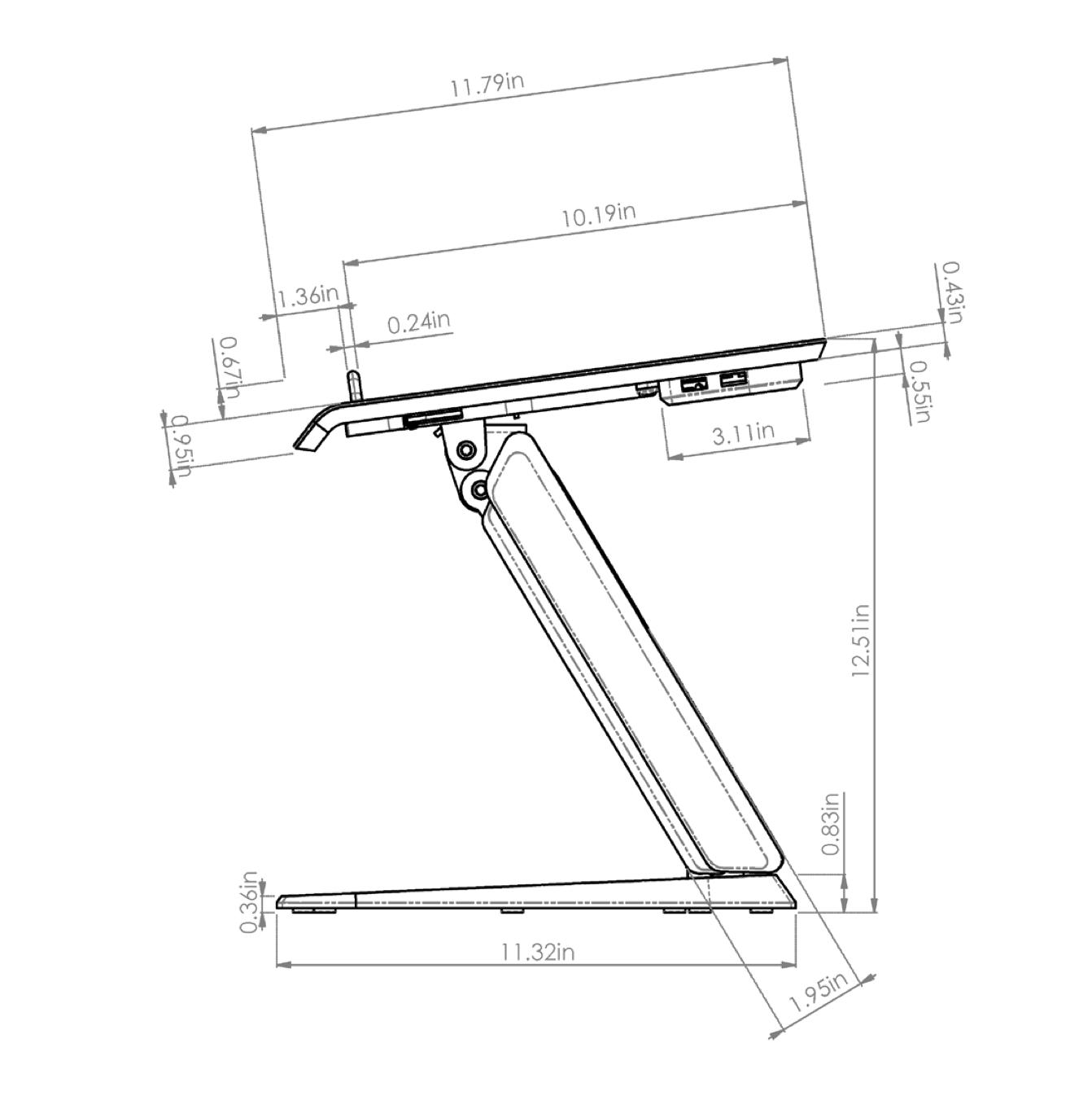 esi hana laptop support dimensions - 5