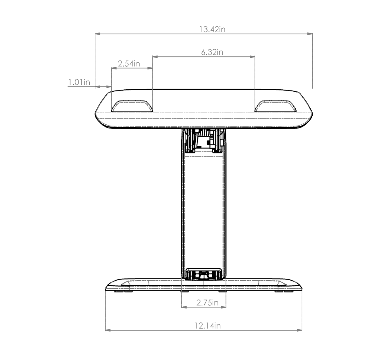 esi hana laptop support dimensions - 1