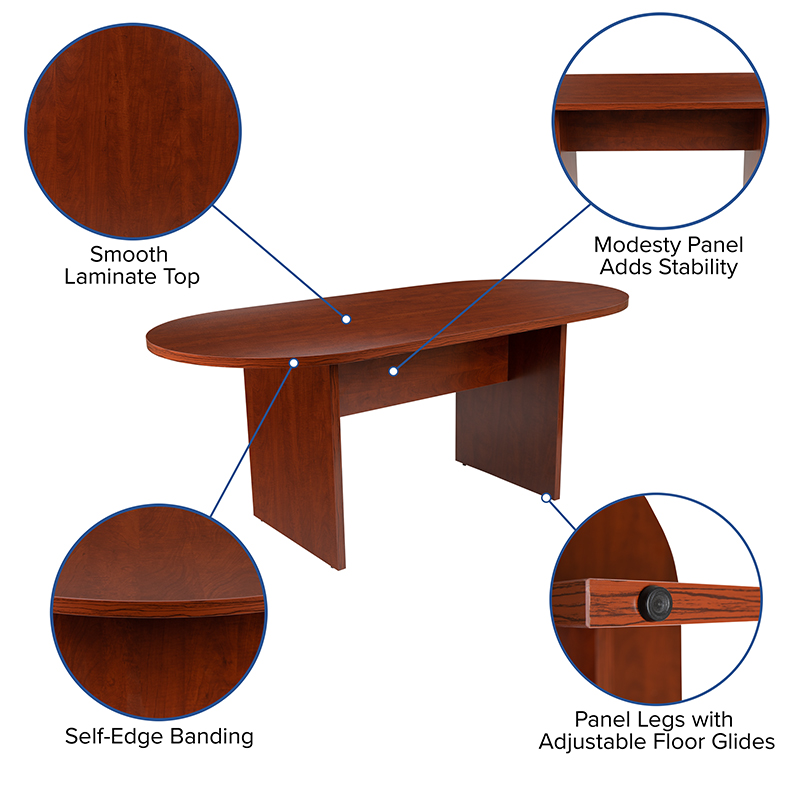 cherry conference table features