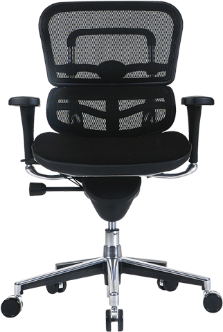 ergohuman mesh chair with fabric seat - front