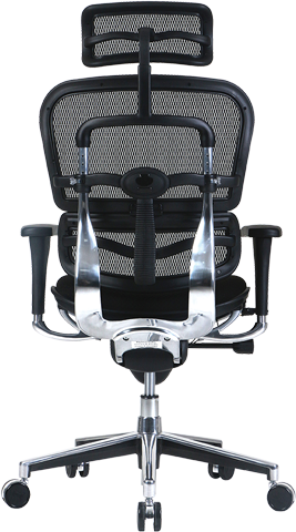ergohuman high back mesh chair with fabric seat back