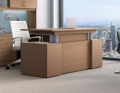 global zira height adjustable ergonomic desk
