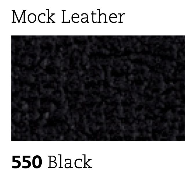 mock leather trim