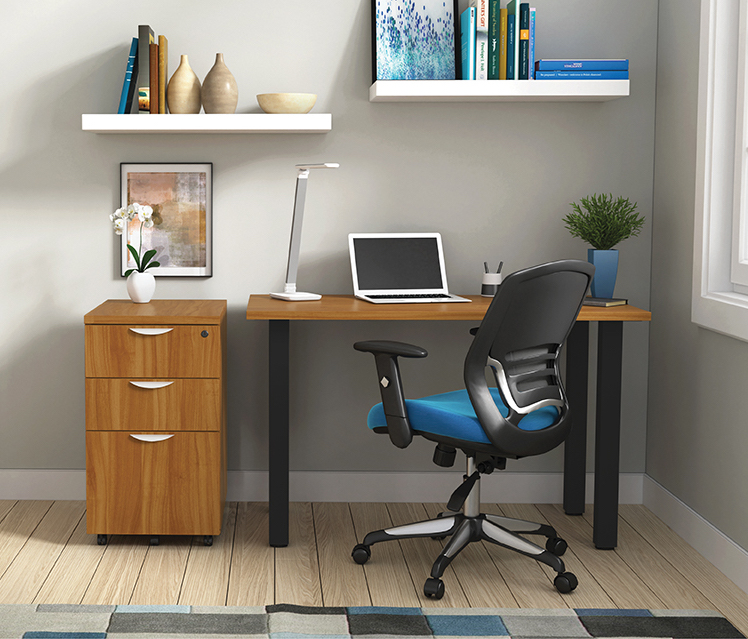 autumn walnut otg superior laminate writing desk