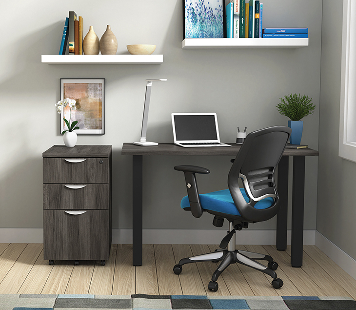 artisan grey otg superior laminate writing desk