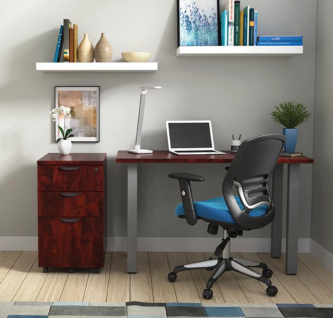 otg small writing desk in dark cherry