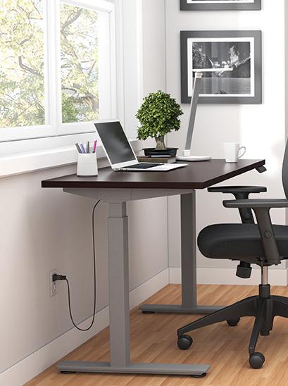 espresso 71 x 30 height adjustable table