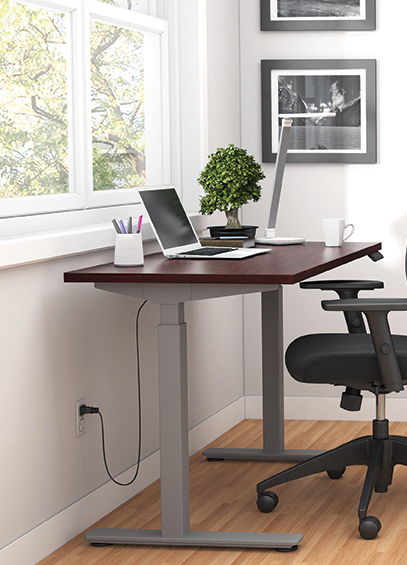 mahogany 71 x 30 height adjustable table