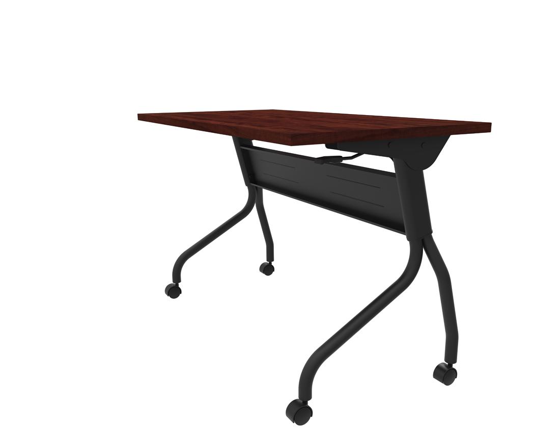 dark cherry flip top nesting table