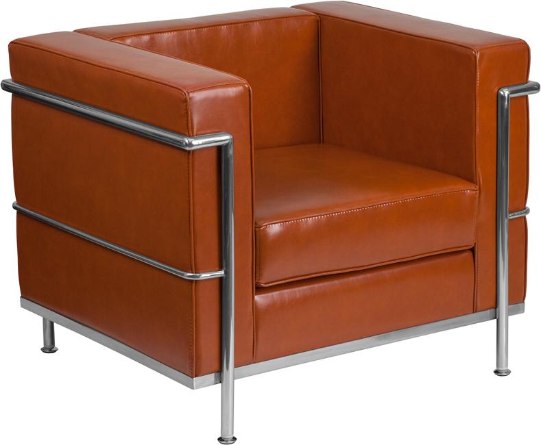 regal cognac lounge chair