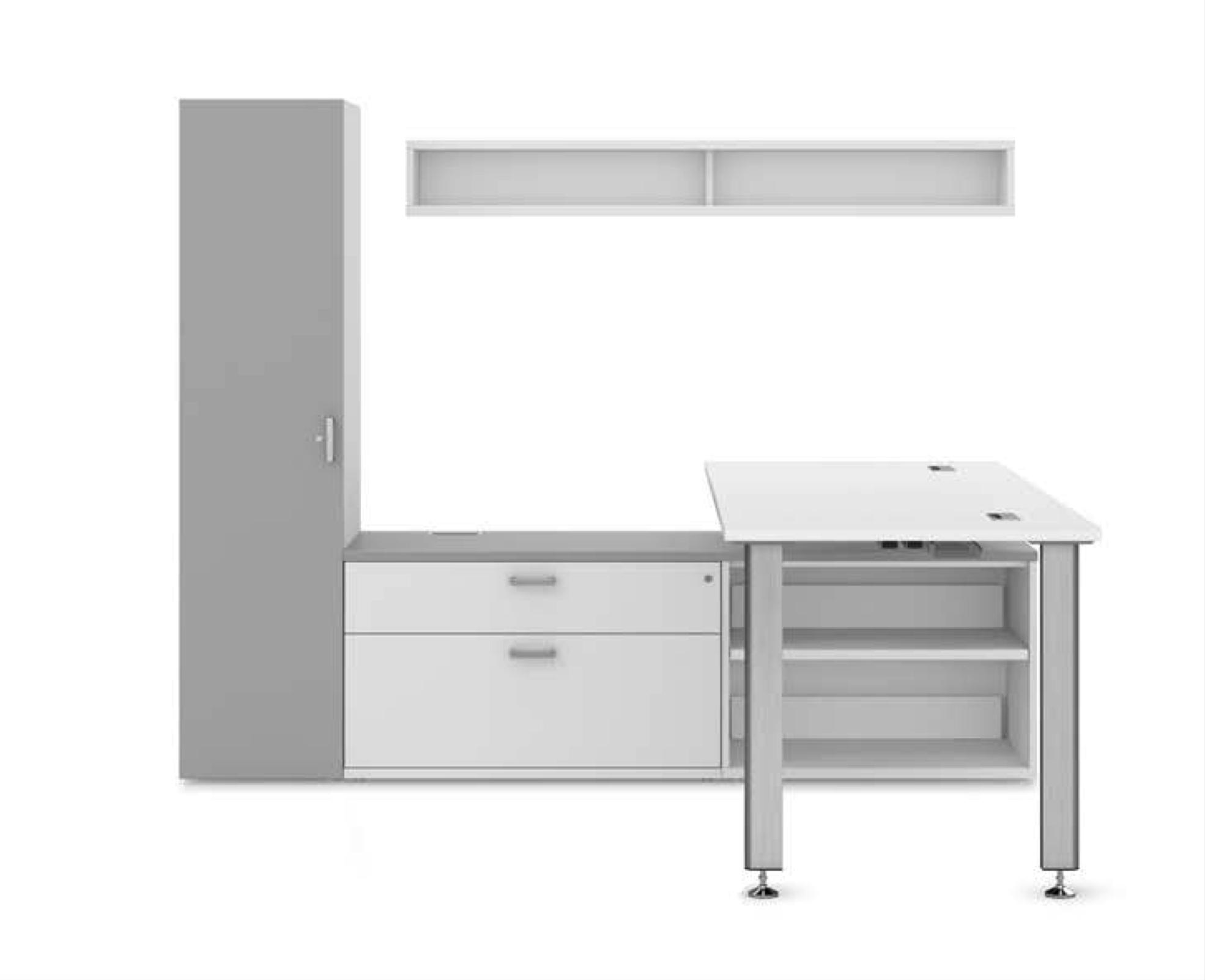 idesk l-shaped workstation