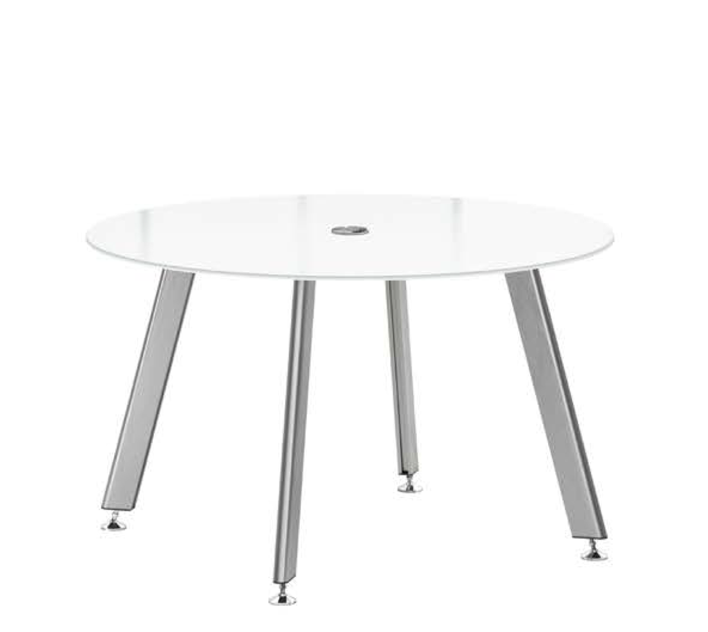 """idesk glass conference table with 42"""" round top"""