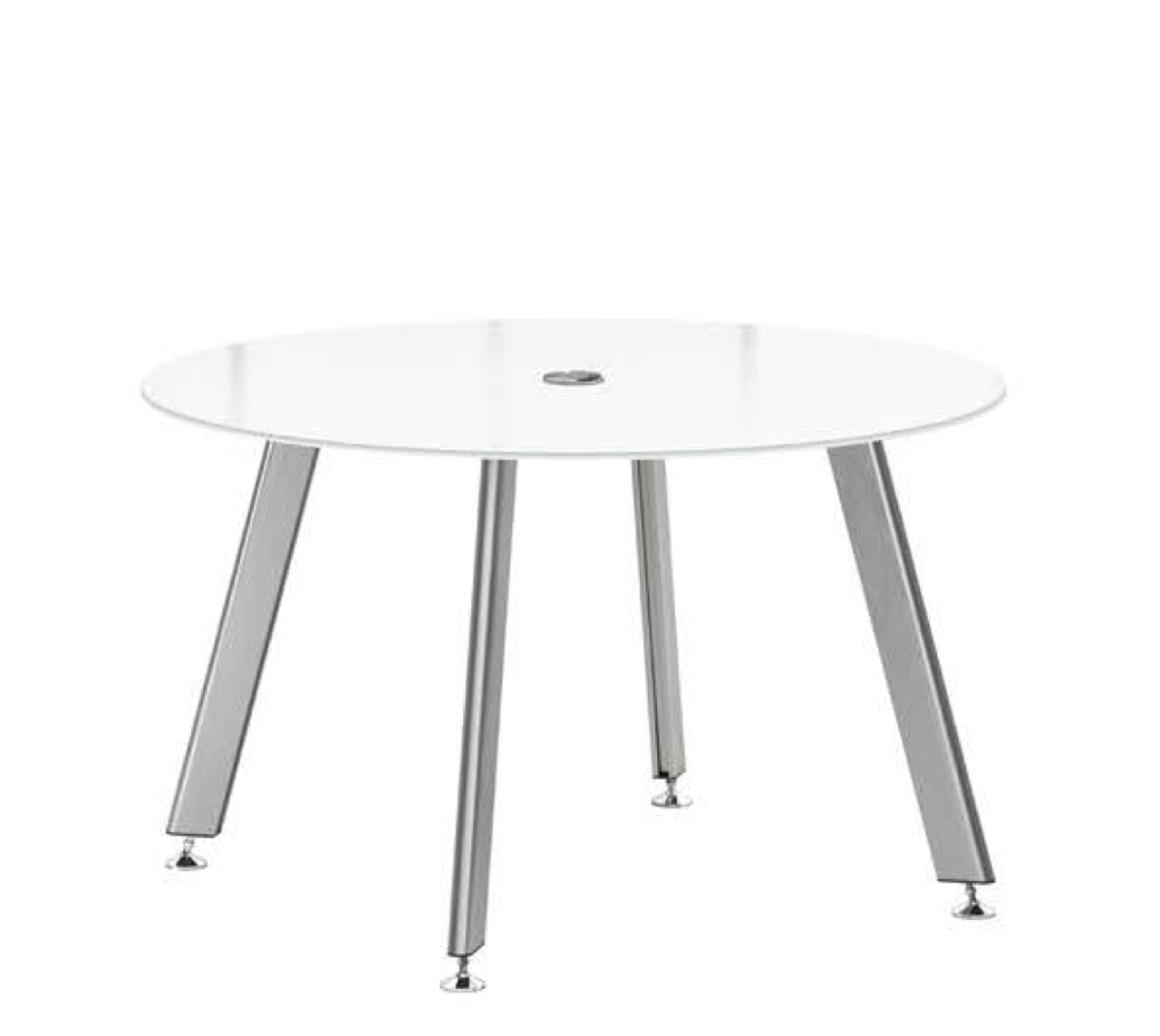 """60"""" idesk glass top conference and meeting table"""