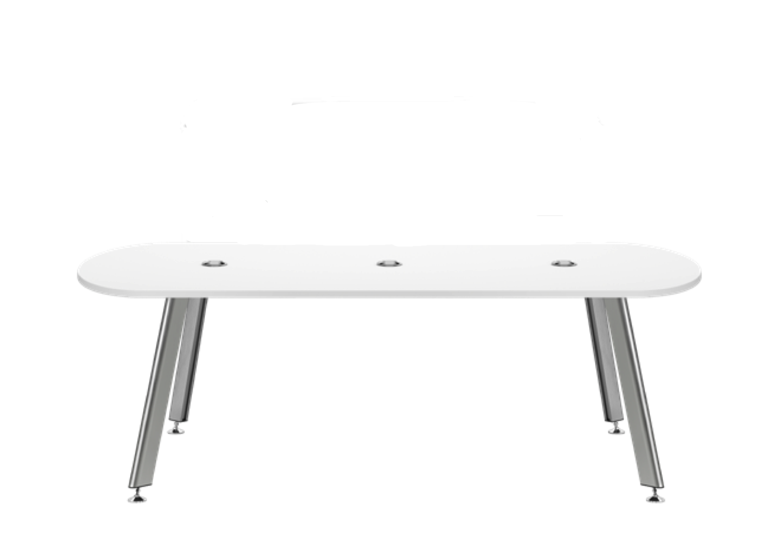 idesk white laminate conference table