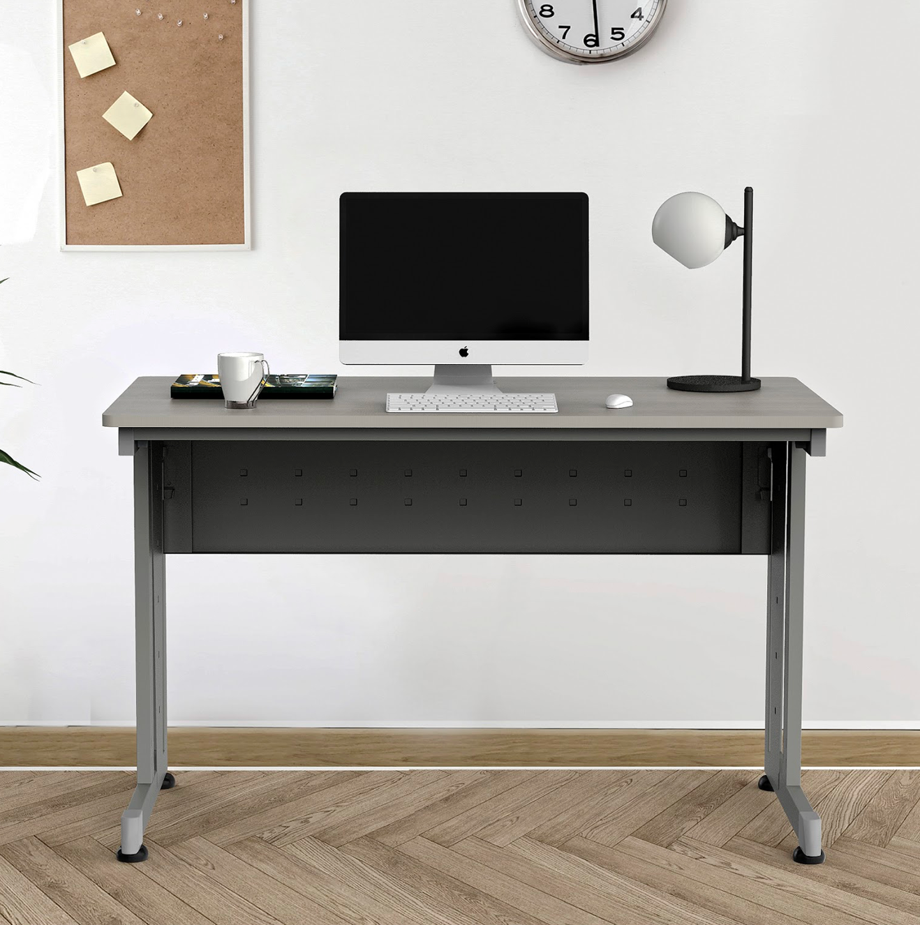 """48"""" x 24"""" computer table in ash"""