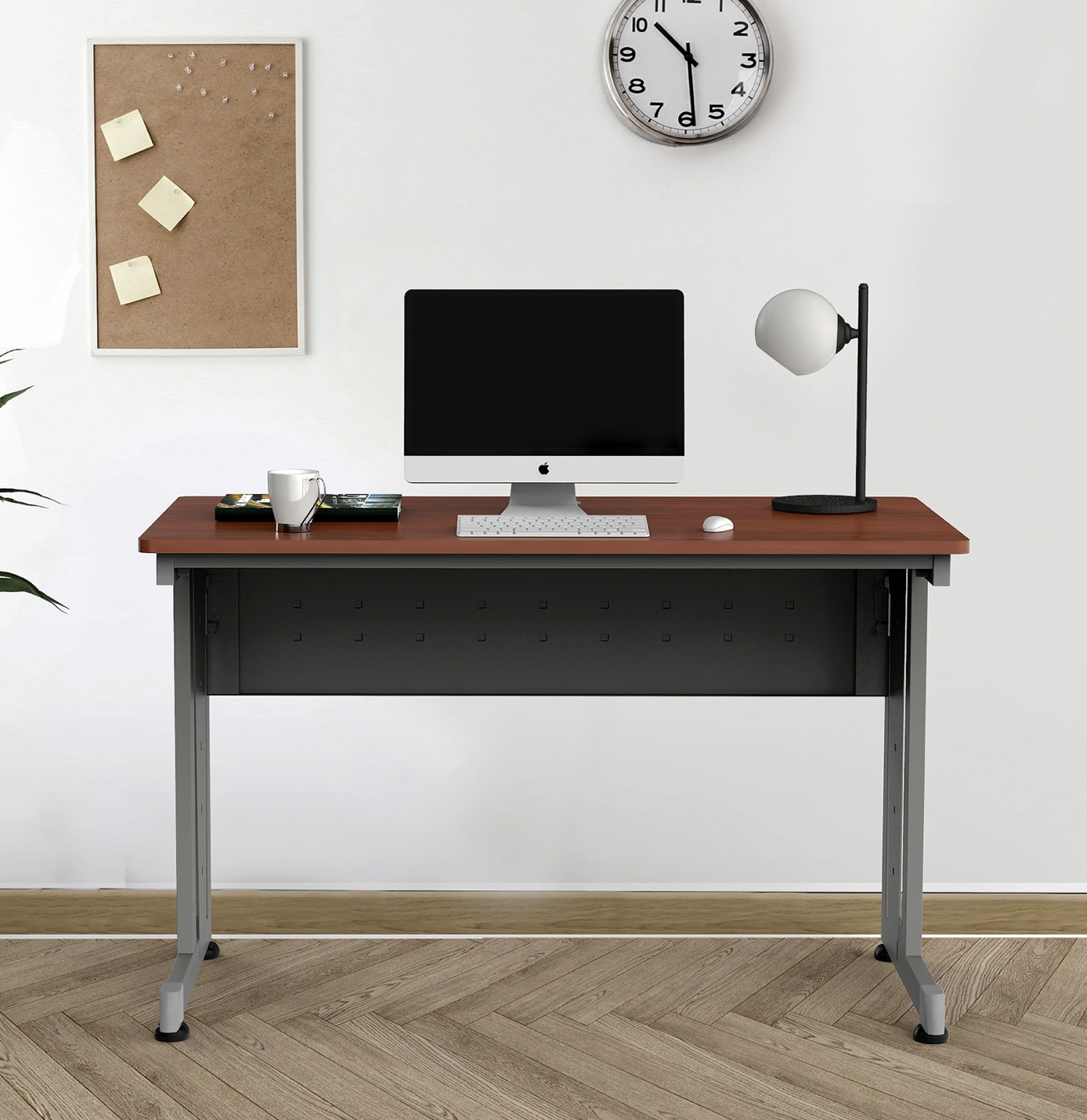 """48"""" x 24"""" computer table in cherry"""