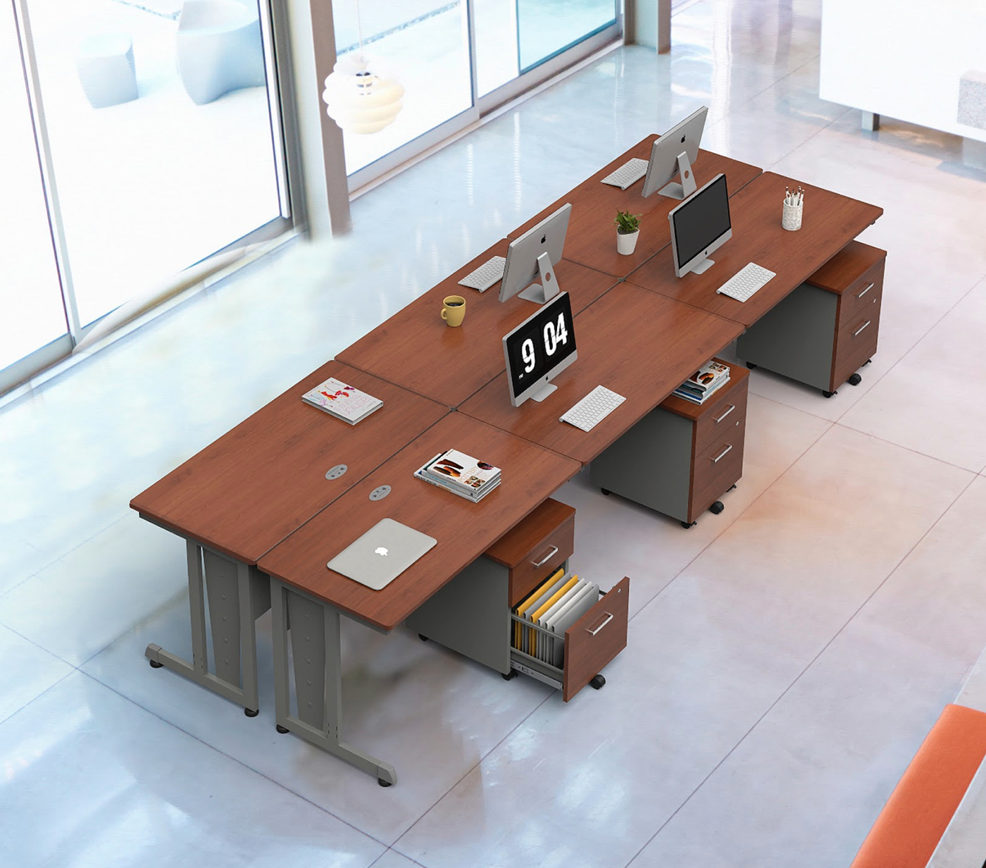 computer workstations in cherry