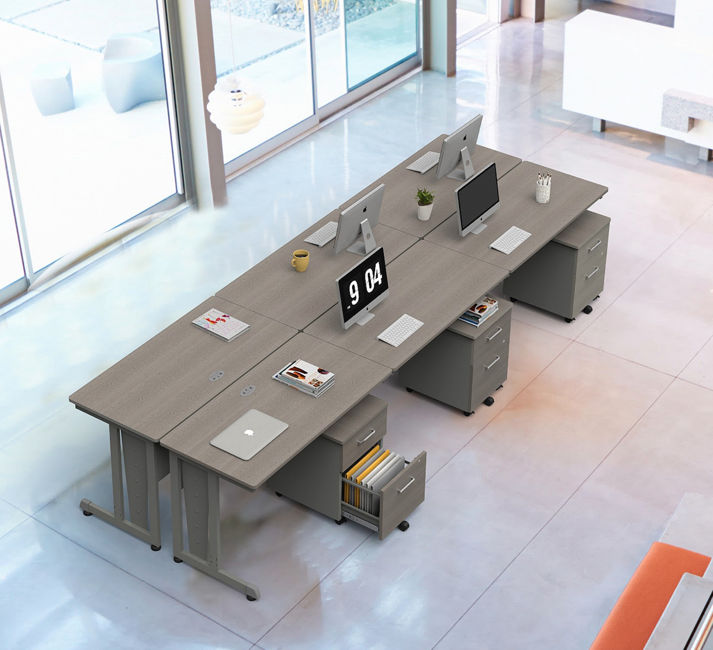 computer workstations in ash