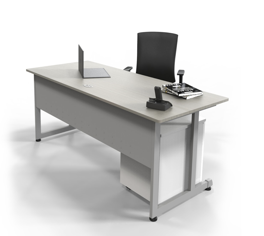"""72"""" x 30"""" office desk with accessories"""
