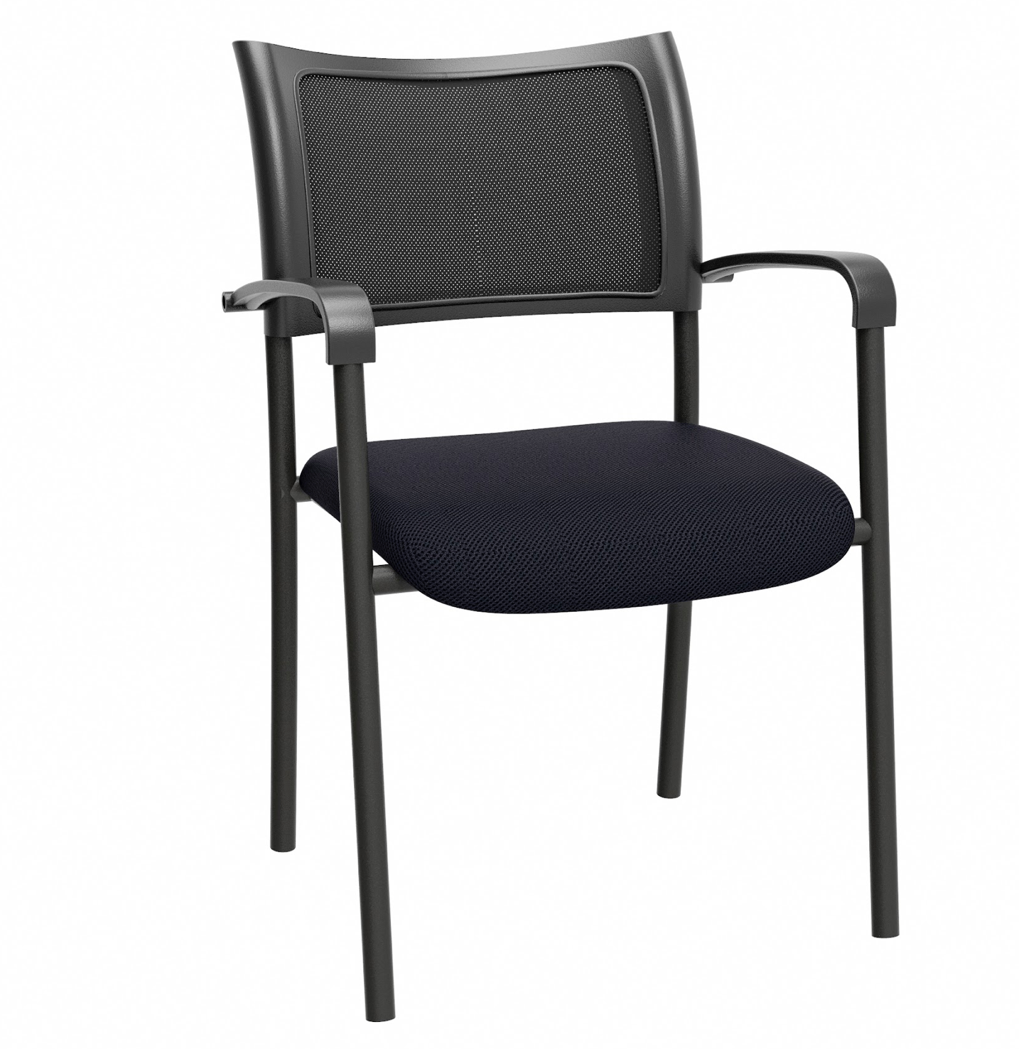 mesh back guest chair by linea italia