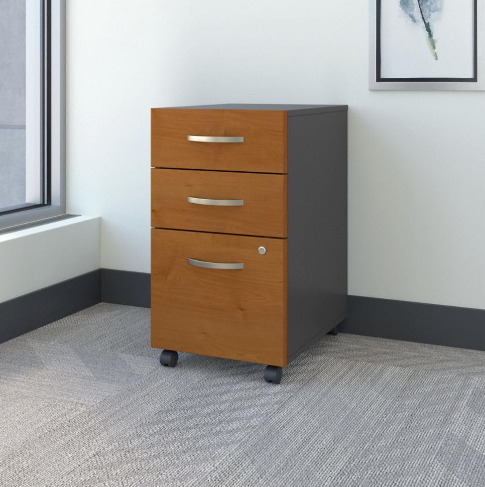 Bush Business Furniture Series C 3 Drawer Mobile File Cabinet