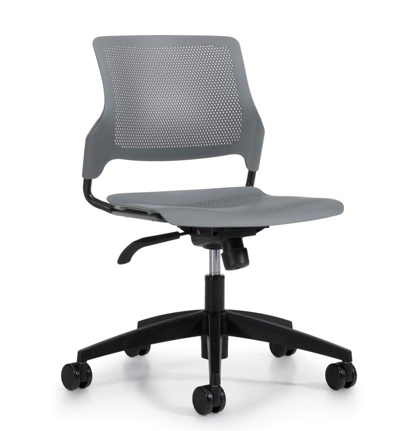 armless wipe clean stream task chair