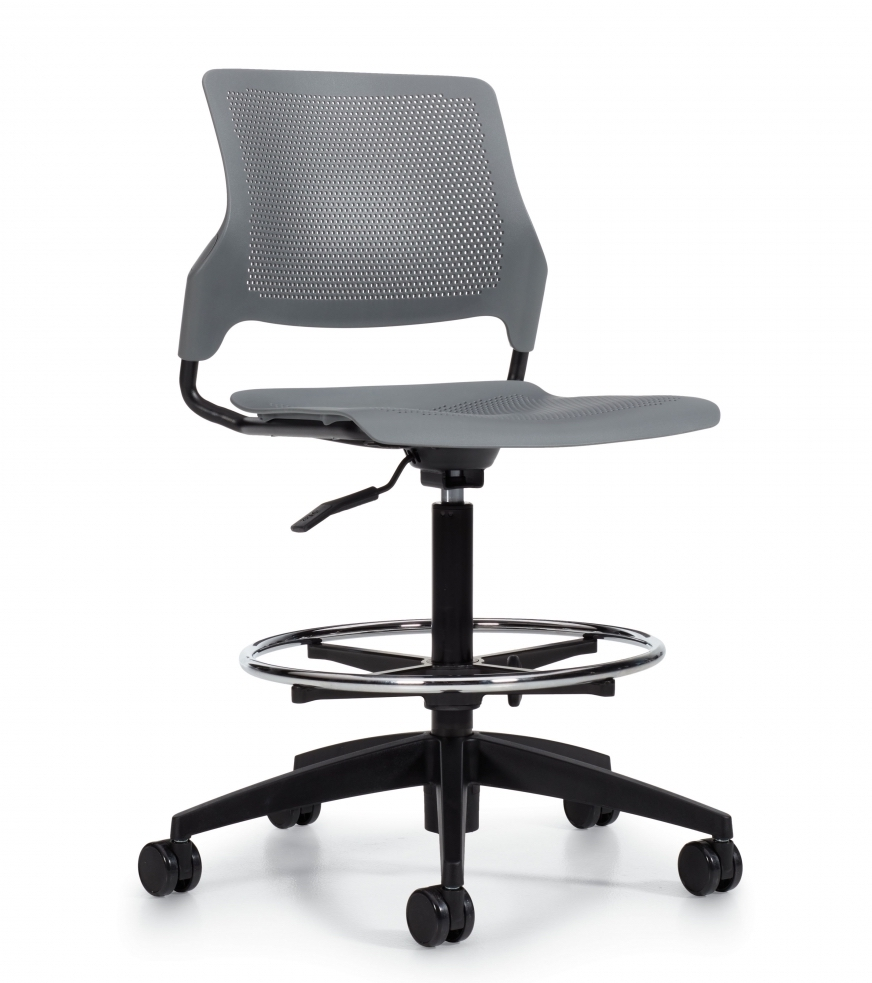 armless wipe clean task stool