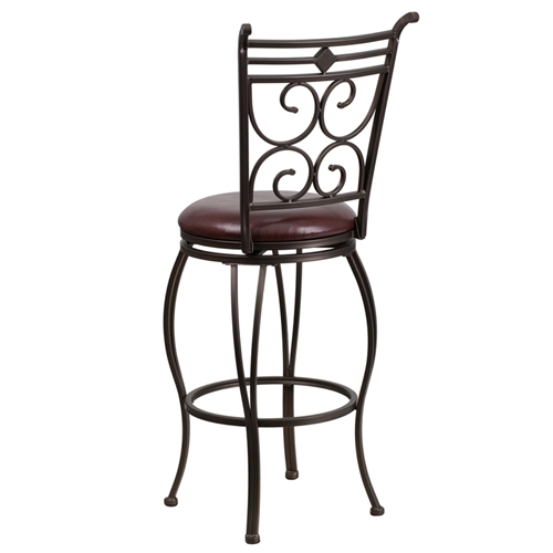 """Flash Furniture 29"""" Brown Metal Bar Stool"""
