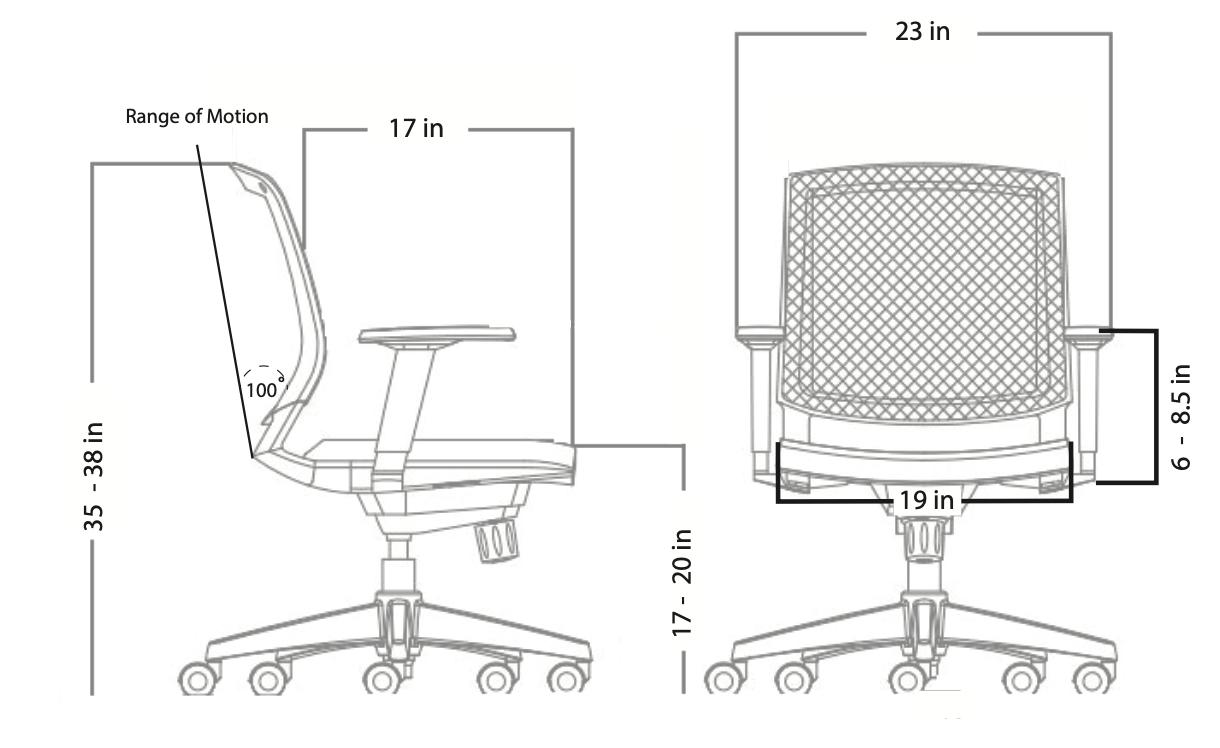 amenity chair dimensions