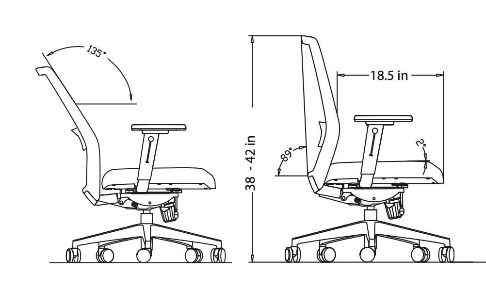 vektor chair dimensions