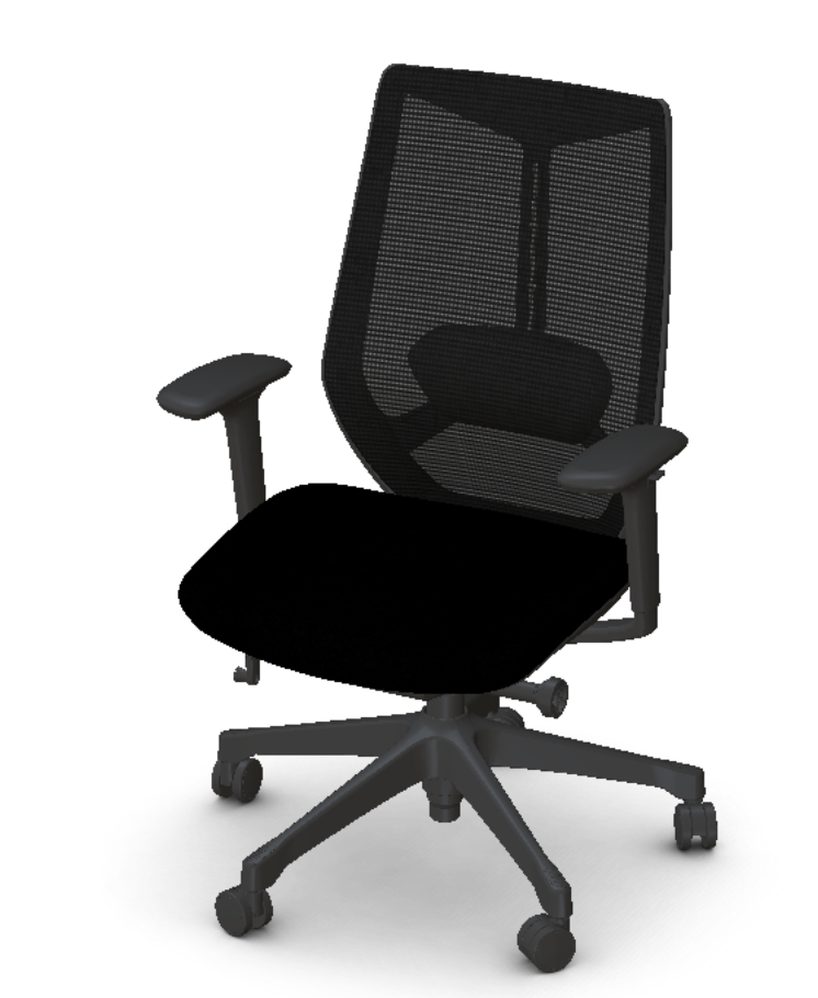 friant ignite chair in black