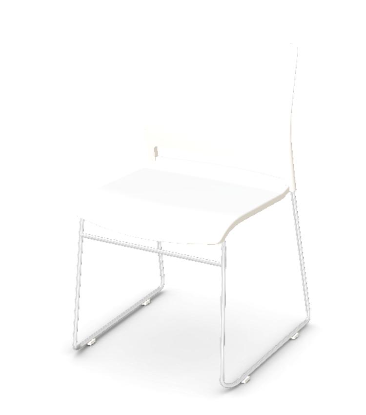 white prep chair