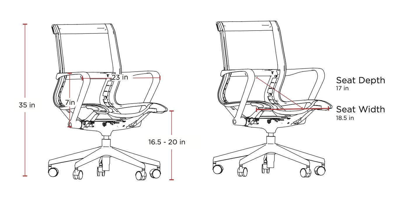 friant prov chair dimensions