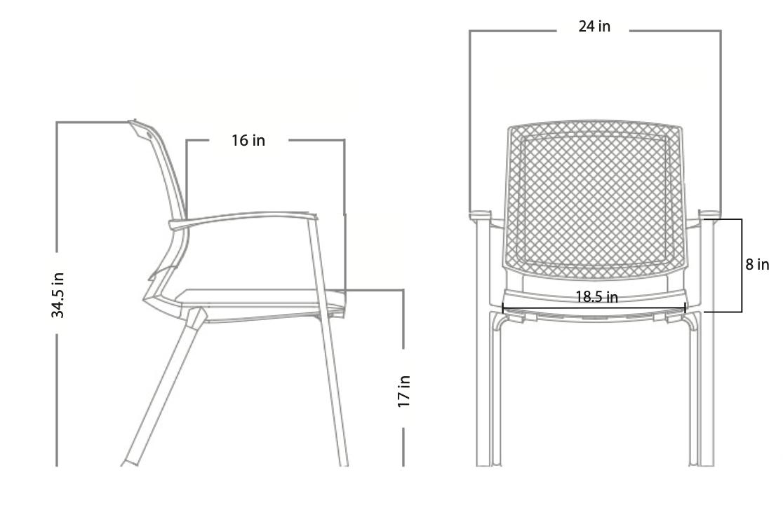 axiom guest chair dimensions