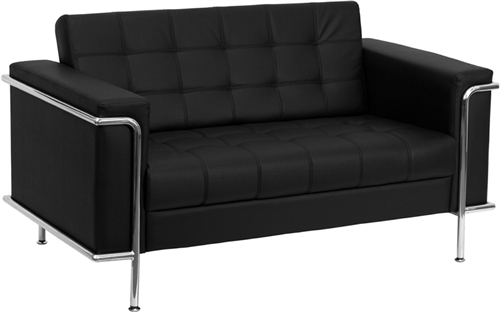Flash Furniture 3 Piece Lesley Series Black Reception Furniture Set