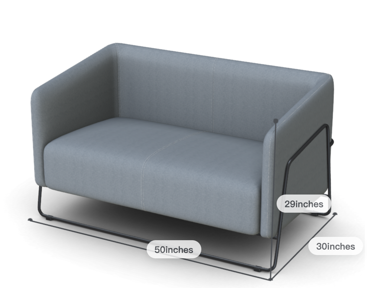 Friant Hanno Contemporary Loveseat
