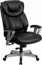 Flash Furniture 400 lb. Capacity Black Leather Big and Tall Chair with Arms