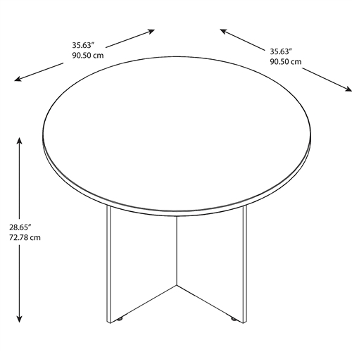 "Bush 42"" Round Meeting Table"