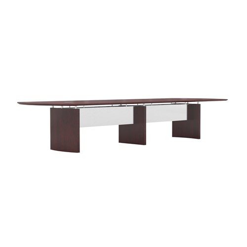 Mayline Napoli 14' Wood Veneer Boardroom Table NC14 (Available with Power!)