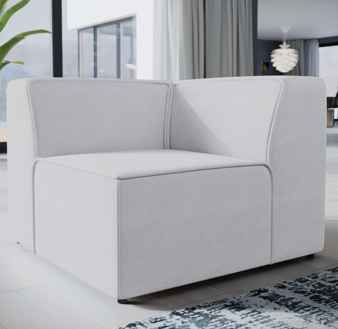 modway mingle series sectional piece