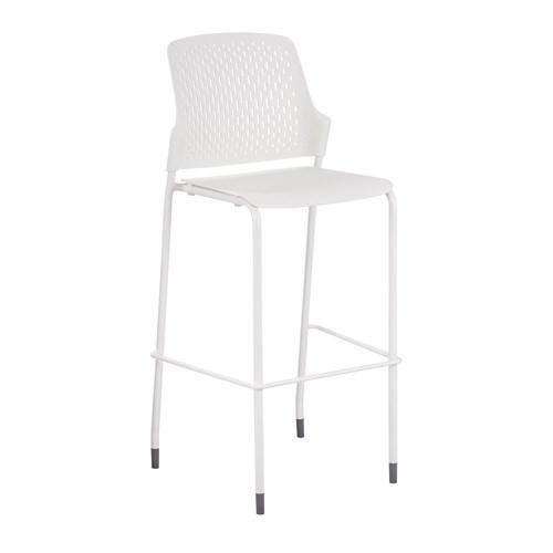 safco bistro chair in white