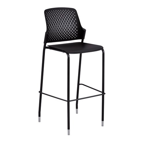 safco bistro chair in black