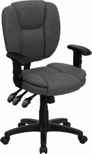 Flash Furniture Adjustable Gray Upholstered Computer Chair
