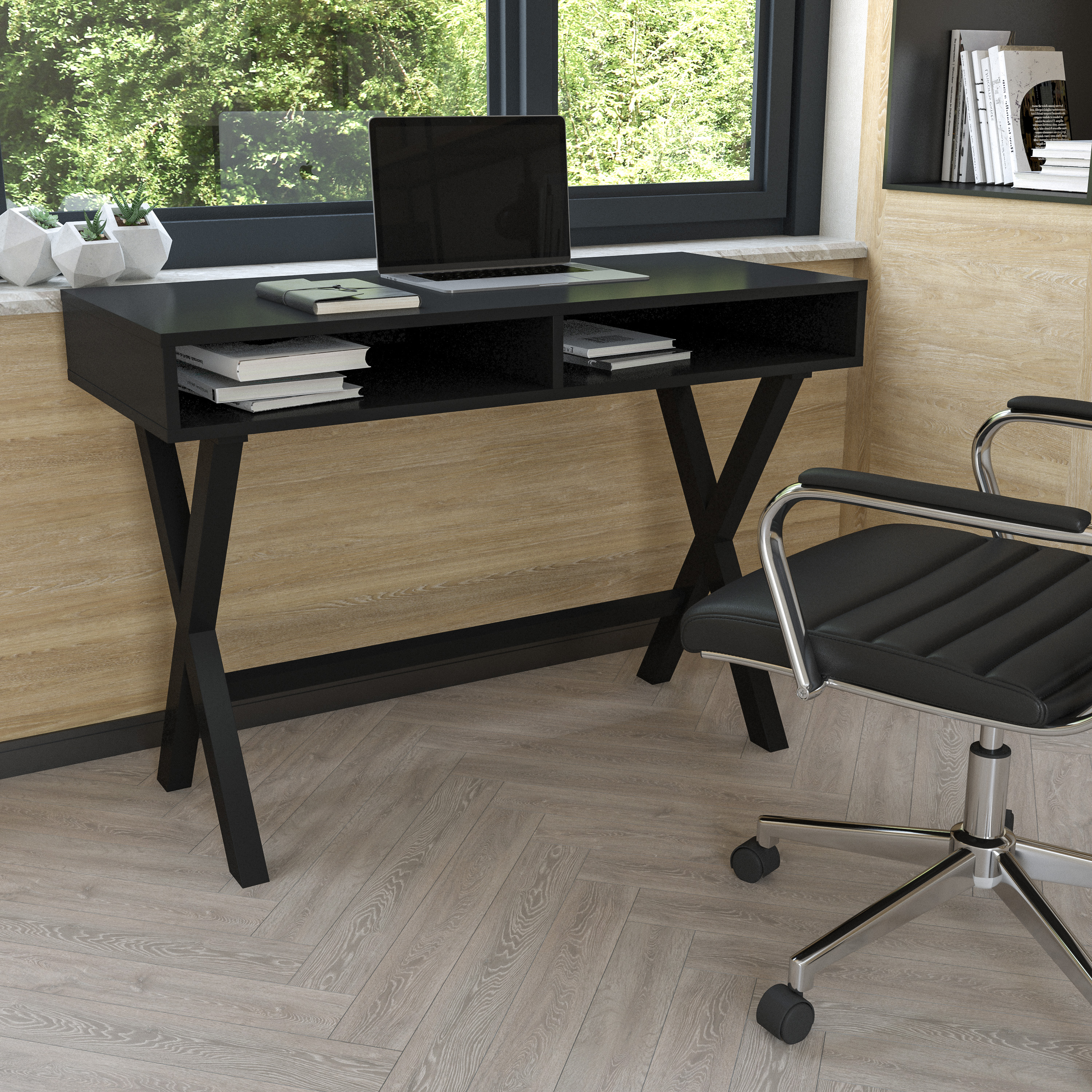 Flash Furniture Home Office Computer Desk with Storage Cubbies